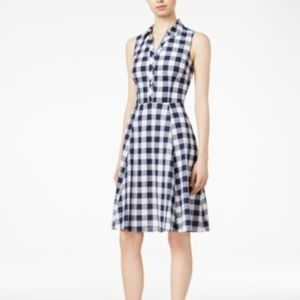New Maison Jules Cotton Gingham Shirtdress